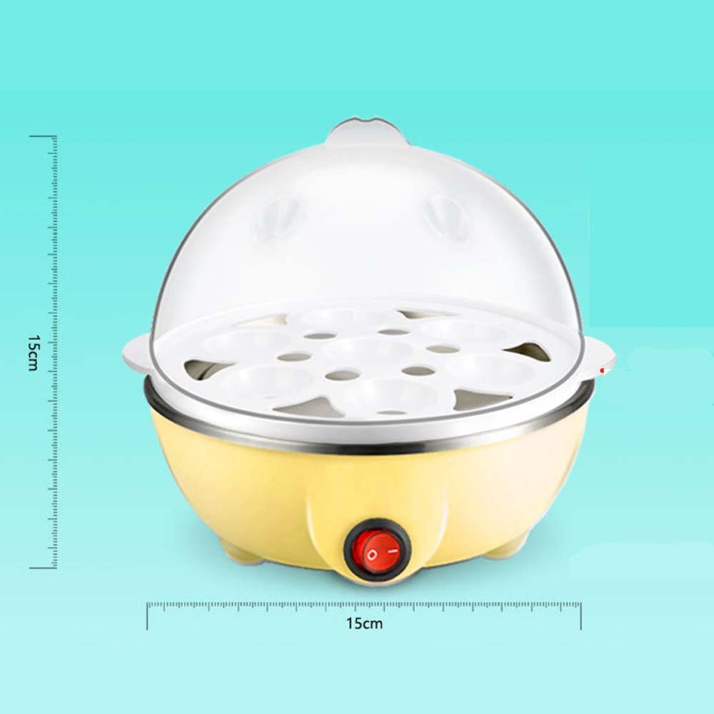Rapid Egg Cooker with Auto Shut Off Feature, 7 Egg Capacity Electric Egg Cooker for Hard Boiled Eggs, Poached Eggs, Steamed Vegetables, Dumplings