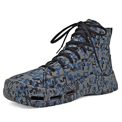 SoftScience Mens Terrafin Boat Shoe Navy Digi Camo