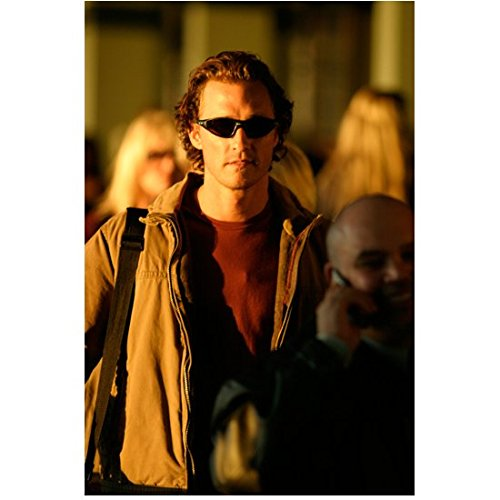 Two for the Money (2005) 8 inch x10 Inch Matthew McConaughey in Sunglasses Walking in Crowd ()
