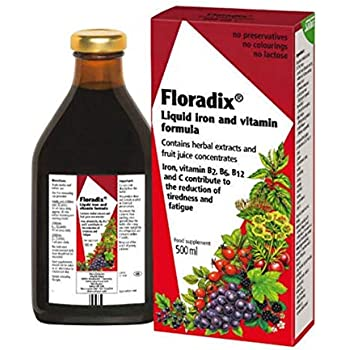 Amazon.com: Floradix Liquid Iron & Vitamin Formula - 8.5oz