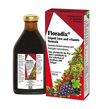 Floradix Liquid Iron And Vitamin Formula 500ml Beauty