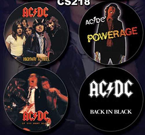 AC/DC Coaster Set of 4 - Rare -