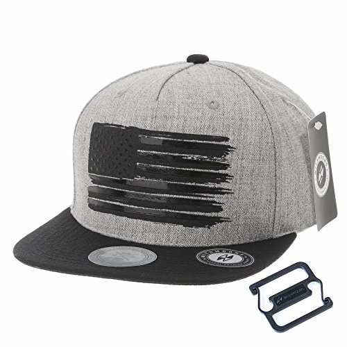 WITHMOONS Baseball Cap Star and Stripes American Flag Hat KR2305 (Grey, L) (Caps Stars Stripes)