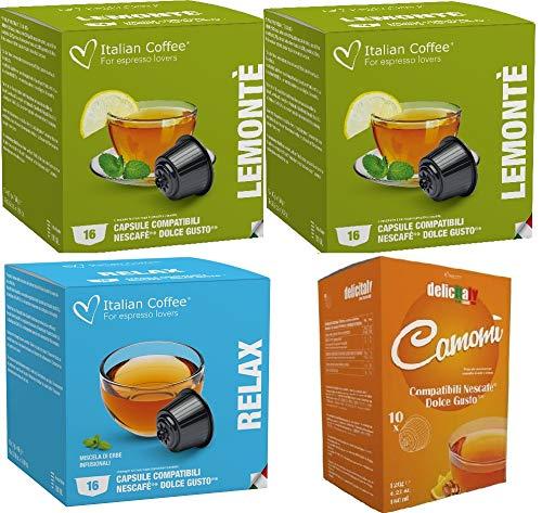 Degustacion Infusiones y Tes Compatibles Dolce Gusto 64 Capsulas 3 Varieda