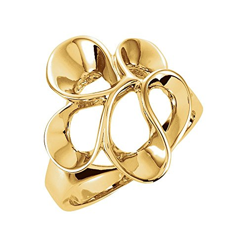 FB Jewels 14K Yellow Gold Freeform Ring Size 6