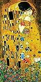 Gustav Klimt The Kiss Lovers Le Baiser Romance Decorative Fine Symbolist Art Poster Print, 12x24 Unframed