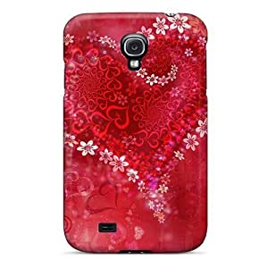 EXfhEQm4263KHFnn Case Cover, Fashionable Galaxy S4 Case - Flower Heart