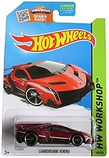 hot wheels 2015 hw workshop lamborghini veneno maroon die cast vehicle - Rare Hot Wheels Cars 2015