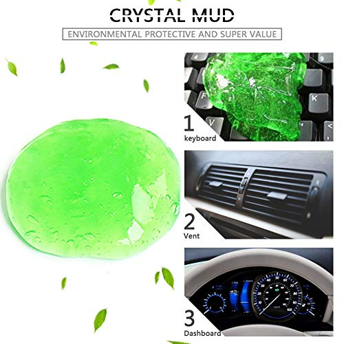 Magical Automobile Car Air Outlet Vent Dashboard Keyboard Dust Dirt Cleaner Multifunction Dust Glue Cleaner Tool