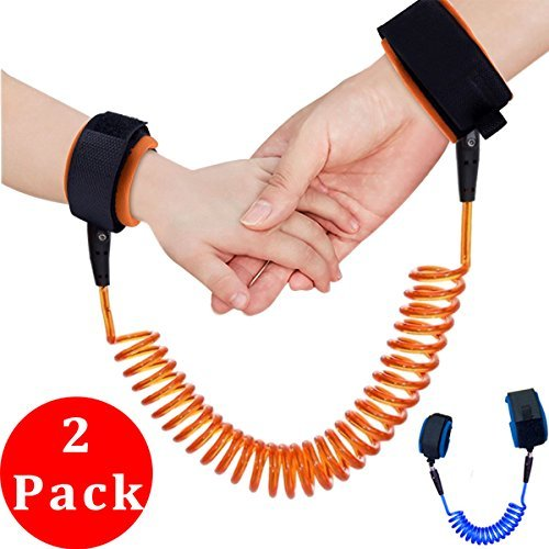[2 Pack] U-pick Child Anti Lost Safety Harness Link, Adjustable Skin Friendly Anti Lost Belt Wrist Safe Link Wrist Straps for Babies Kids Toddlers Runners (Up to 5.9 feet)