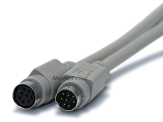 Monoprice 6-Feet MDIN8 M/F 0.0423611111111111 Cable, Beige (100534)