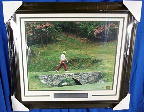 - Jack Nicklaus Autographed Framed 16x20 Photo Masters Bridge Steiner
