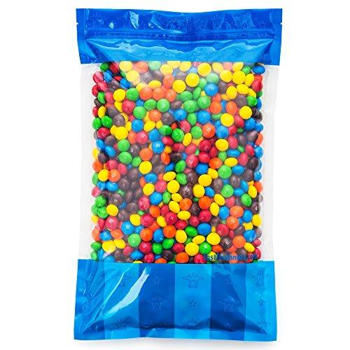 Bulk Peanut Butter M&Ms in Resealable Bomber Bag, Wholesale Peanut Candy Treats (5lb -