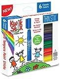 Kwik Stix Solid Tempera Paint THIN STIX Set of 6 Classic Colors