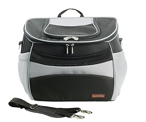 One for Pets The EVA Backpack Pet Carrier, Small, Black Airline Approved Size - Trolley Fixture Included