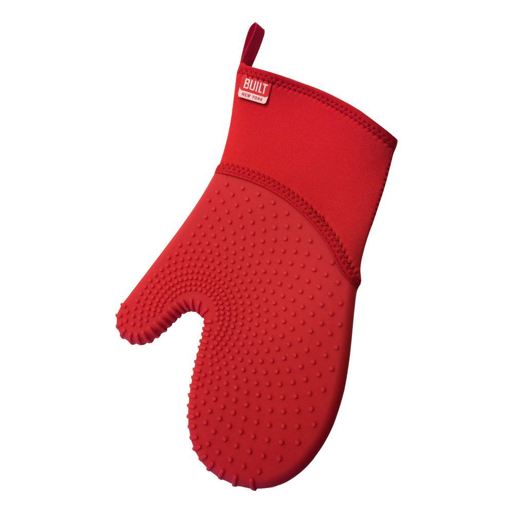 Built NY 5214801 Ultimate Grip Neoprene and Silicone Oven Mitt, One Size, Red