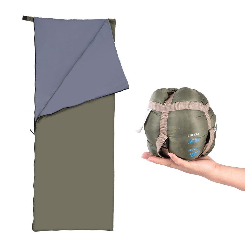 Lixada Saco de Dormir Ultra Ligero Multifuncional 190 * 75cm 680g de Forma de Sobre para Acampada Senderismo al Aire Libre