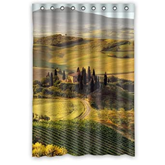 Amazon Tuscany Italy Bathroom Decor 100 Polyester Shower Curtain 48 Wide X 72 Long Clothing