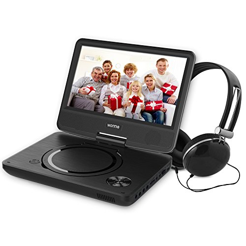 Dual Screen Portable Dvd Player With Rechargeable Battery - 7