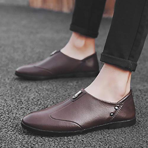 amp; Retro Business Slip Slip 40 Yuan Shoechaussures Homme Chaussures brown Mocassins One on Décontractées SwXYfx