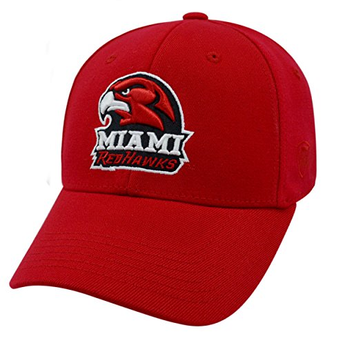 Top of the World NCAA-Mid-American Conference (MAC) Conference-Premium Collection-OneFit-Memory Fit- Size: L/XL-Miami Redhawks (Redhawks Top)