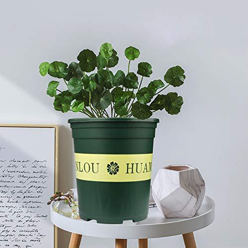 Brajttt 10PCS 1 Gallon Durable Nursery Pot/Garden Planter Pots/Nursery  Plant Container with 10PCS Pallet
