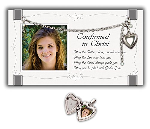Cathedral Art GF202 Confirmation Picture Frame with Locket, 7 by 4-Inch by Cathedral Art