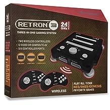 Hyperkin RetroN 3 System NES/SNES/GENESIS 2.4 GHz Edition Onyx Black