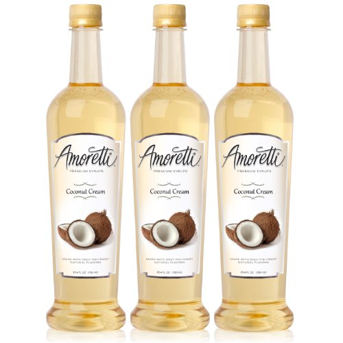 (Amoretti Premium Coconut Cream Syrup 750ml 3 Pack)