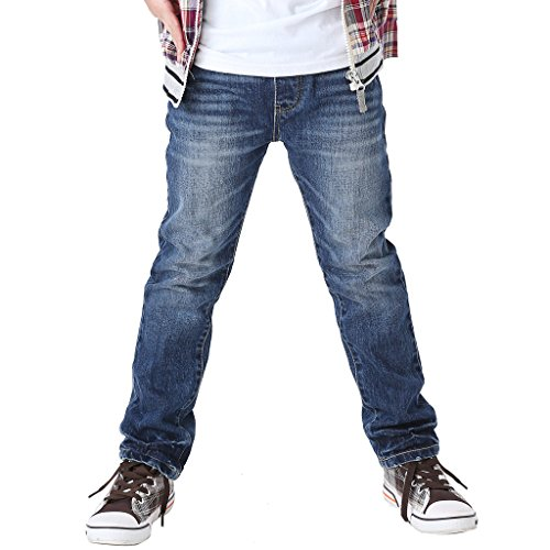 Boys Dark Blue Denim Jeans - 9