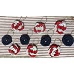 Patriotic-Burlap-Flower-Hanging-Twig-Tree-Ornaments-Set-of-10-Red-White-and-Blue-Napkin-Holder-Wreath-Outdoor-Table-4th-of-July-Memorial-Day-Decor