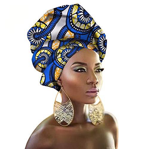 - African Traditional Wax Print Head wrap Headwrap Scarf Tie, Multi-Color Urban Ladies Hair Accessory Headband Head Scarf (TTJ18)