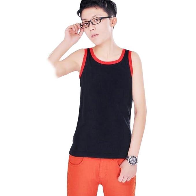 c23022128277f shangke Womens Les Lesbian Tomboy Short Chest Binder Vest Tank Tops ...
