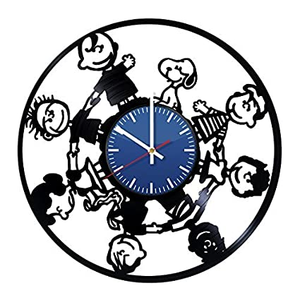 Amazon Com Amka Cartoon Friends Handmade Vinyl Record Wall Clock
