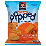 quaker popped cheese - QUAKER POPPED RICE CRISPS CHEDDAR CHEESE 6 OZ