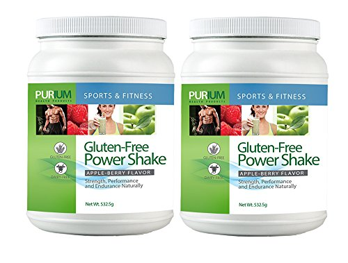 Purium 2 Pack Power Shake - Apple Berry Flavor