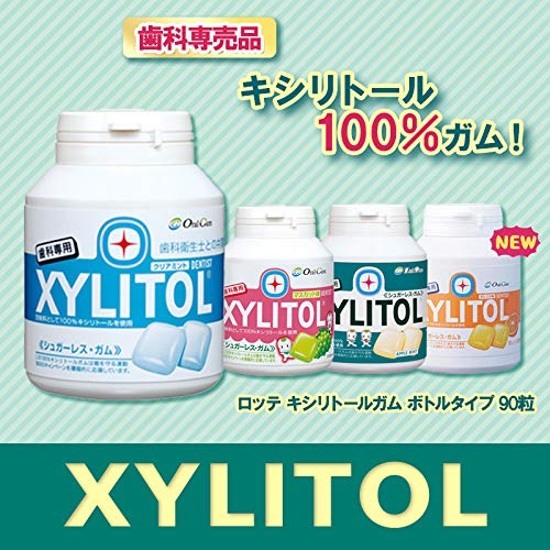 Oral Care 100% Xylitol Sweetened Gum - Sugar-Free, Fruit Flavored Chewing Gum - 90 PCS(Pack of 4) (Assorted)