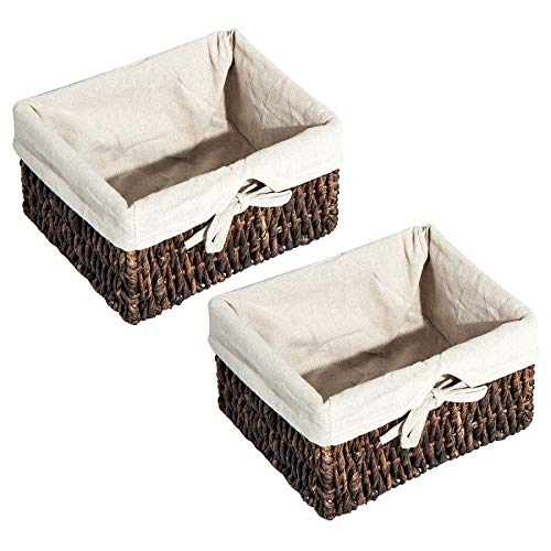 """MRT SUPPLY 24"""" Rustic Country Floating Storage Shelf W/Coat Hooks and Removable Wicker Baskets - Coffee Woodgrain with Ebook by MRT SUPPLY (Image #8)"""