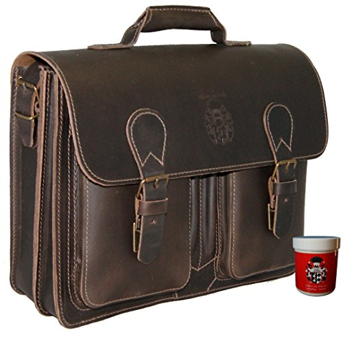 Baron Of Maltzahn Men's Large Briefcase Top Handle Bag Michelangelo Leather One Size Brown