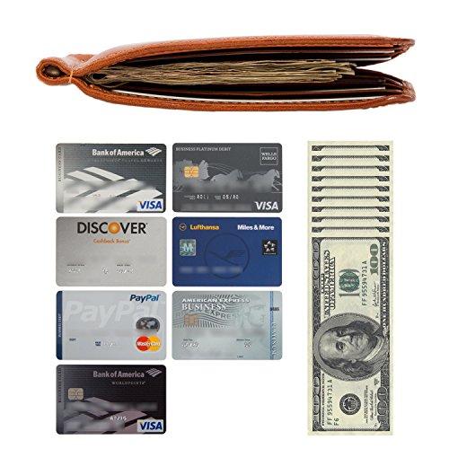 Tony Clip Money Perotti Credit Honey Card Bifold Italian Wallet Leather Slot 71w7rUq