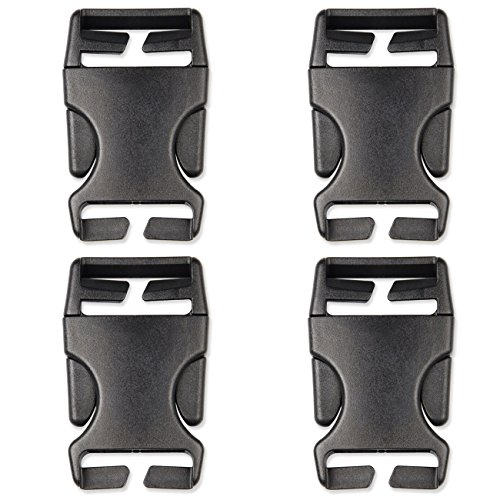 DYZD Multi-Size Plastic Buckle Repair Kit Quick Release Buckles No Sewing Required Buckles for Backpack Bag (4pcs Black,38 mm)