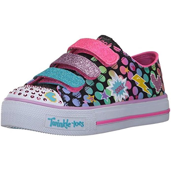 Skechers Kids Unisex-Child Shuffles-Poppin' Posse Sneaker