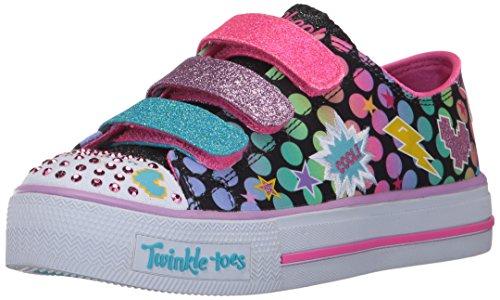 Skechers Kids Kids' Shuffles-Poppin' Posse Sneaker,Black/Multi,12.5 M US Little Kid