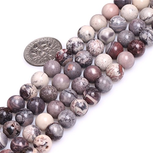 Brown Porcelain Jasper Beads for Jewelry Making Natural Gemstone Semi Precious 8mm Round 15