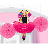 Girls Barbie Sparkle Party Fluffy Hanging Swirl Decorations / Spiral Ornaments (3 PCS)- Party Supply, Party Decorations
