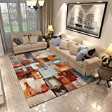 GIY Abstract Living Room Area Rugs Rectangular Colorful Carpets Children Crawling Bedroom Mats Home Decor Outdoor Indoor Runners 1.5' X 2'