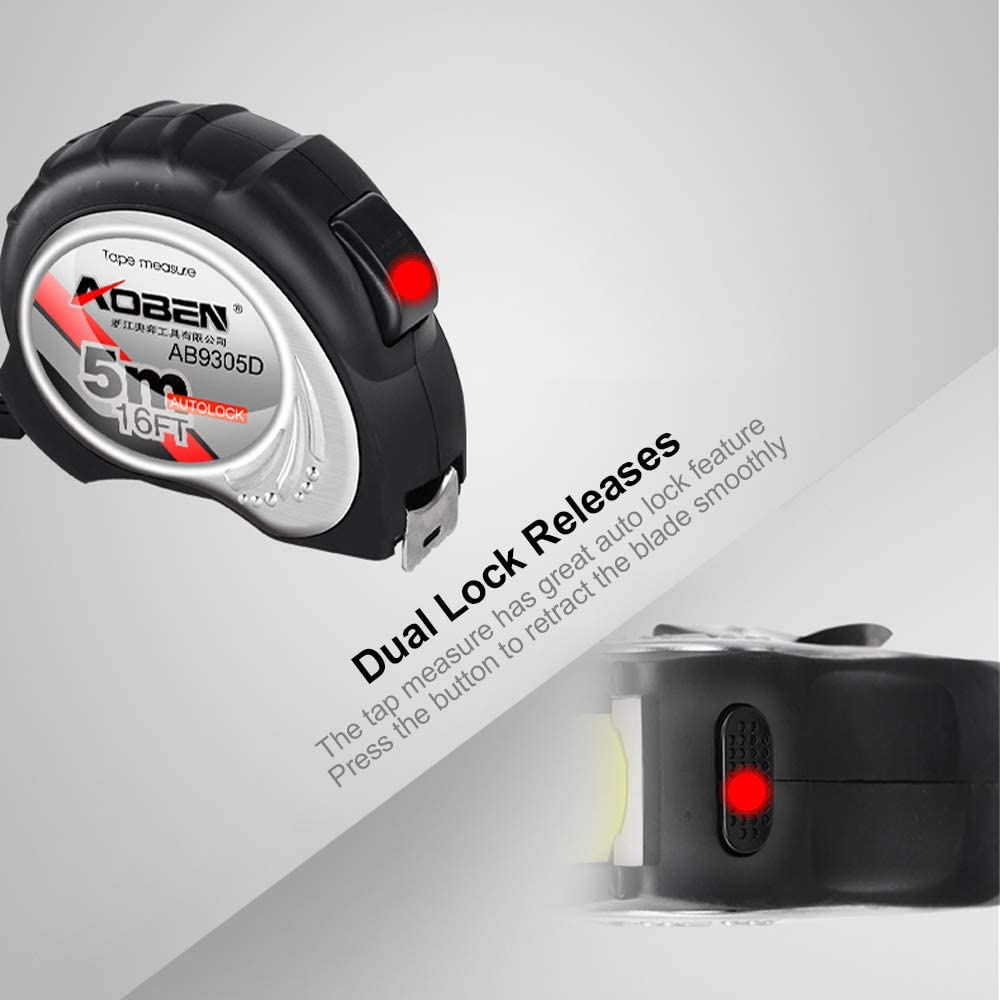 Delymc Tape Measure PH01 Meter Measure covered with Impact Resistant Rubber Case and it can Precisely Measure.