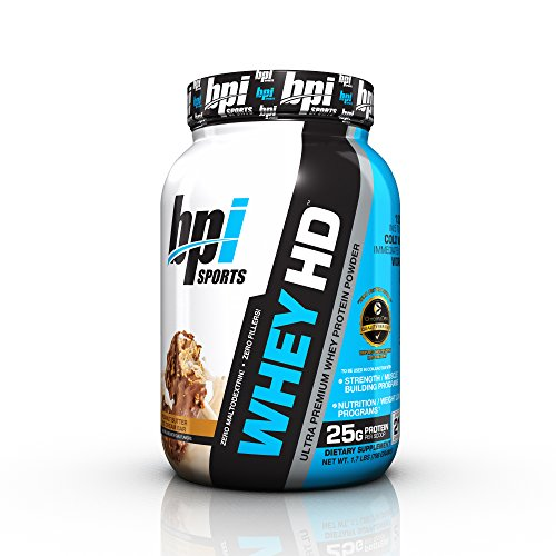 Peanut Butter Marshmallow Bars - BPI Sports Whey HD Ultra Premium Protein Powder, Peanut Butter Ice Cream Bar, 1.7 Pound
