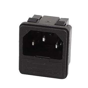Sourcingmap AC250 V 10 A C14 IEC Eingang Socket sss-8b-1 Schalter ...
