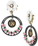 Betsey-Johnson-Jewelry-VINTAGE-FLOWER-COIN-EARRING